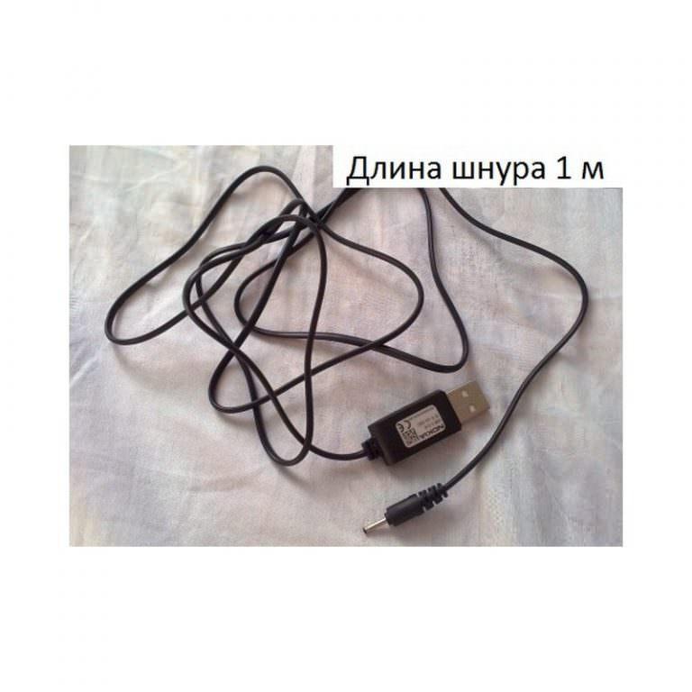 24383 - Кабель-переходник USB к DC 2.0 для зарядки и передачи данных