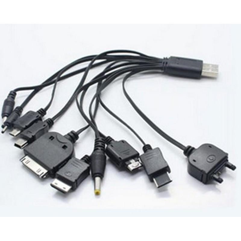 Универсальное USB зарядное устройство 10 в 1 166995