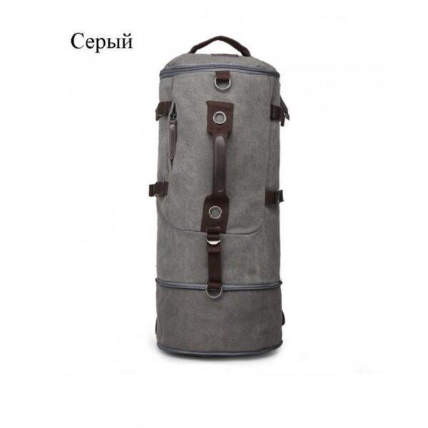 24956 - Дорожная сумка-рюкзак Dezerto Tubus Extended: холщовая ткань, ручки-трансформеры, 62 л