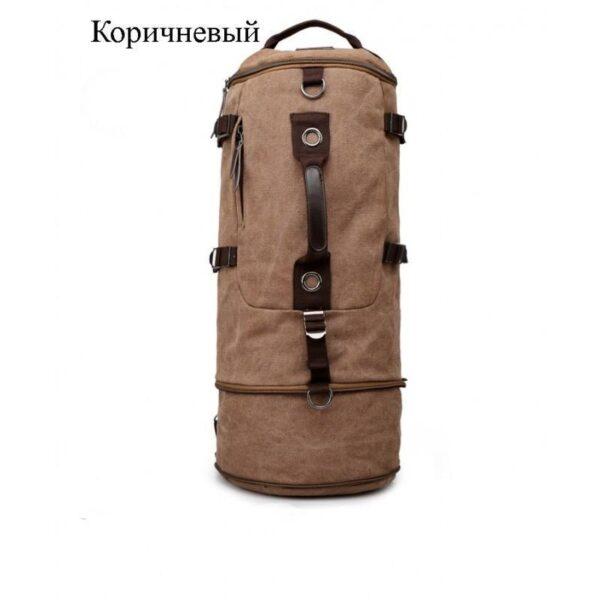 24958 - Дорожная сумка-рюкзак Dezerto Tubus Extended: холщовая ткань, ручки-трансформеры, 62 л