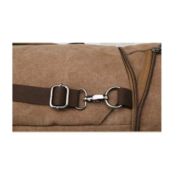 24964 - Дорожная сумка-рюкзак Dezerto Tubus Extended: холщовая ткань, ручки-трансформеры, 62 л