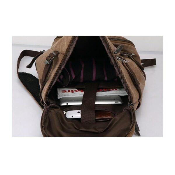 24969 - Дорожная сумка-рюкзак Dezerto Tubus Extended: холщовая ткань, ручки-трансформеры, 62 л