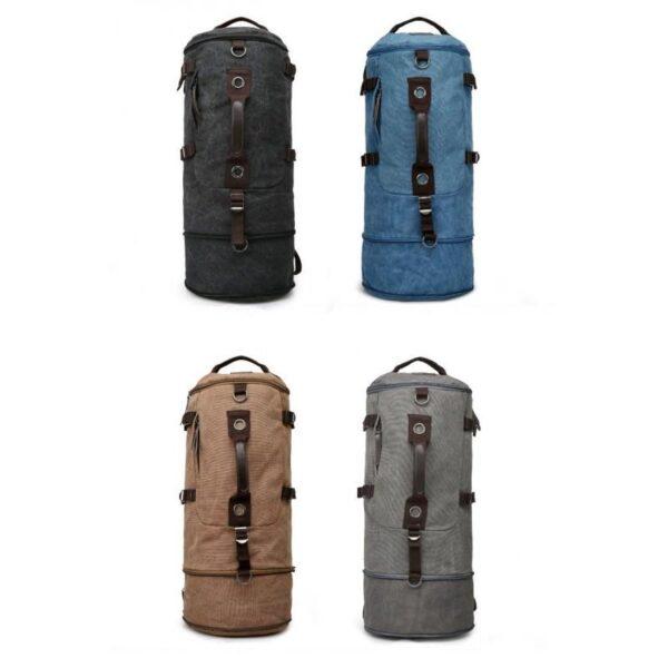 24971 - Дорожная сумка-рюкзак Dezerto Tubus Extended: холщовая ткань, ручки-трансформеры, 62 л