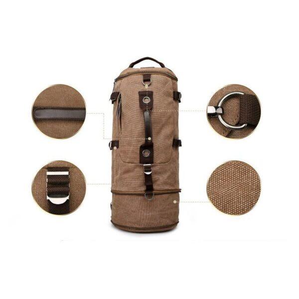 24972 - Дорожная сумка-рюкзак Dezerto Tubus Extended: холщовая ткань, ручки-трансформеры, 62 л