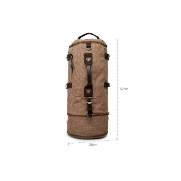 24973 - Дорожная сумка-рюкзак Dezerto Tubus Extended: холщовая ткань, ручки-трансформеры, 62 л