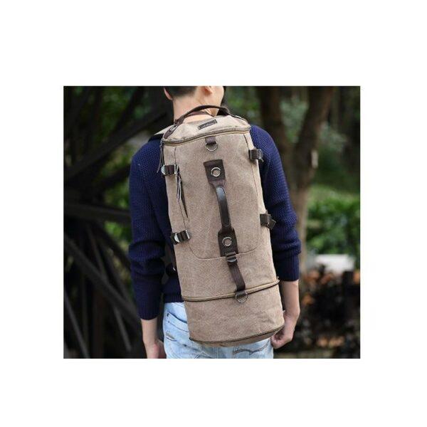 24974 - Дорожная сумка-рюкзак Dezerto Tubus Extended: холщовая ткань, ручки-трансформеры, 62 л