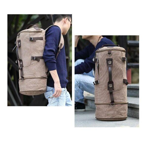 24975 - Дорожная сумка-рюкзак Dezerto Tubus Extended: холщовая ткань, ручки-трансформеры, 62 л