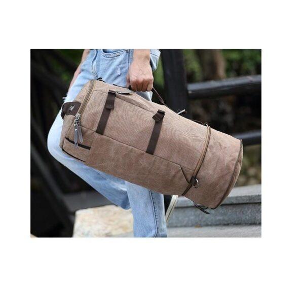 24976 - Дорожная сумка-рюкзак Dezerto Tubus Extended: холщовая ткань, ручки-трансформеры, 62 л