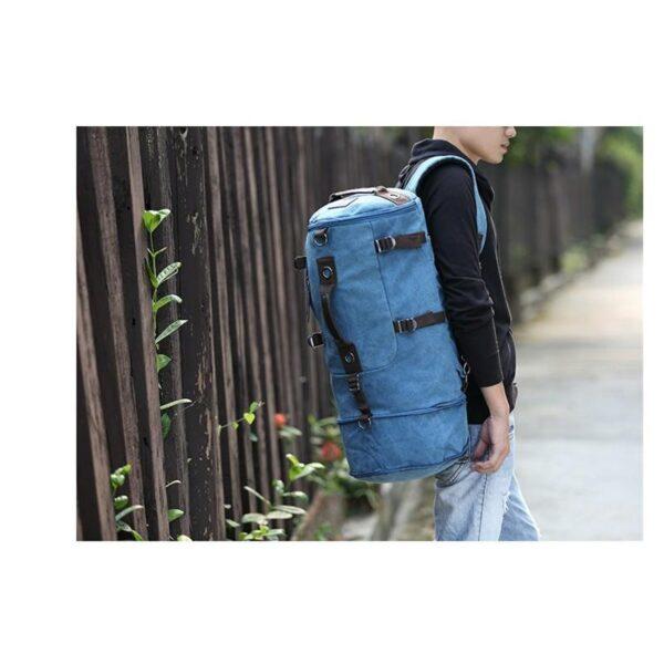 24977 - Дорожная сумка-рюкзак Dezerto Tubus Extended: холщовая ткань, ручки-трансформеры, 62 л