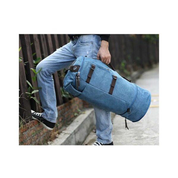 24979 - Дорожная сумка-рюкзак Dezerto Tubus Extended: холщовая ткань, ручки-трансформеры, 62 л