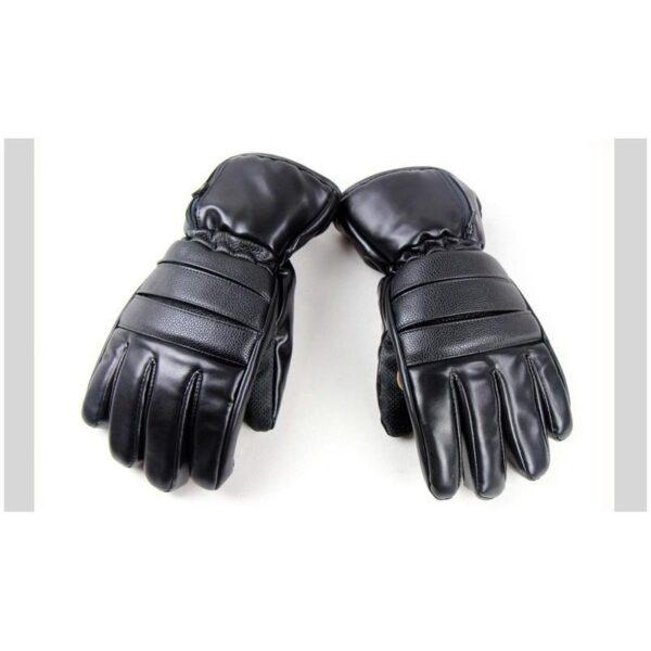 25070 - Кожаные перчатки с подогревом для мотоцикла, охоты, рыбалки, спорта: 2 аккумулятора 7,4В по 2000 мАч, 3 часа подогрева