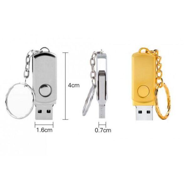 25126 - Прочная металлическая флешка USB 2.0 с защитой от влаги на 16 Гб / 32 Гб / 64 Гб/ 128 Гб