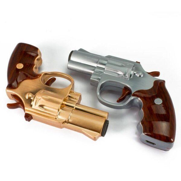 25260 - Плазменная электроимпульсная USB-зажигалка Stellar Gun: цинковый сплав, ветрозащита