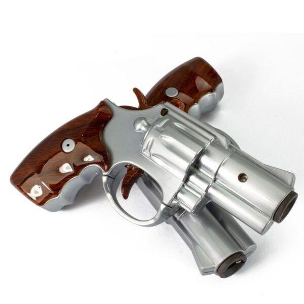 25263 - Плазменная электроимпульсная USB-зажигалка Stellar Gun: цинковый сплав, ветрозащита