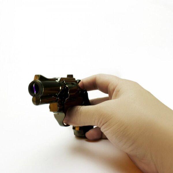 25270 - Плазменная электроимпульсная USB-зажигалка Stellar Gun: цинковый сплав, ветрозащита