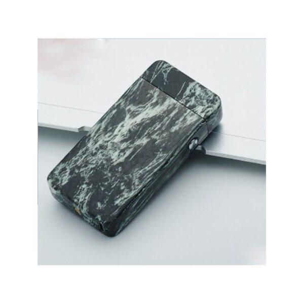 25273 - Электроимпульсная двудуговая USB-зажигалка Volcanic Star: цинковый сплав, ветрозащита, кнопочный пуск