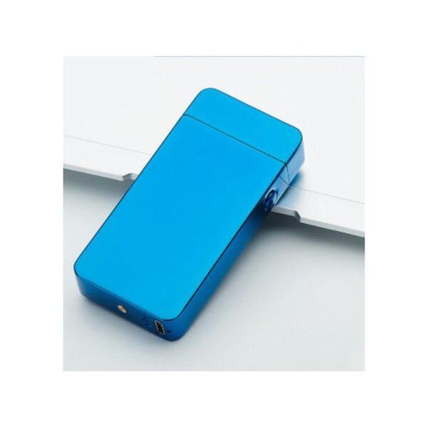 25277 - Электроимпульсная двудуговая USB-зажигалка Volcanic Star: цинковый сплав, ветрозащита, кнопочный пуск