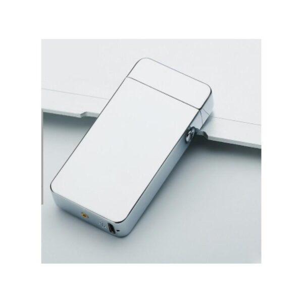 25278 - Электроимпульсная двудуговая USB-зажигалка Volcanic Star: цинковый сплав, ветрозащита, кнопочный пуск