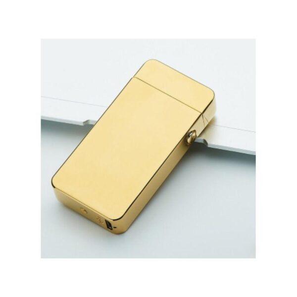 25279 - Электроимпульсная двудуговая USB-зажигалка Volcanic Star: цинковый сплав, ветрозащита, кнопочный пуск