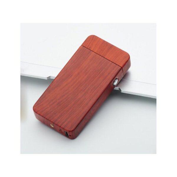 25294 - Электроимпульсная двудуговая USB-зажигалка Volcanic Star: цинковый сплав, ветрозащита, кнопочный пуск