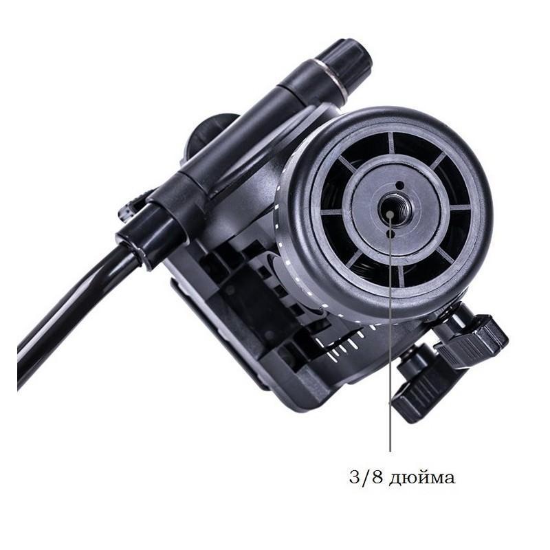Напольный монопод Yunteng 558 с гидравлической головкой, ручкой и быстросъемной площадкой 202591