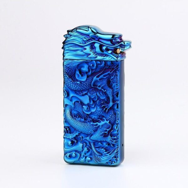 25411 - Плазменная электроимпульсная USB-зажигалка Dragon Fire: цинковый сплав с PVD-напылением