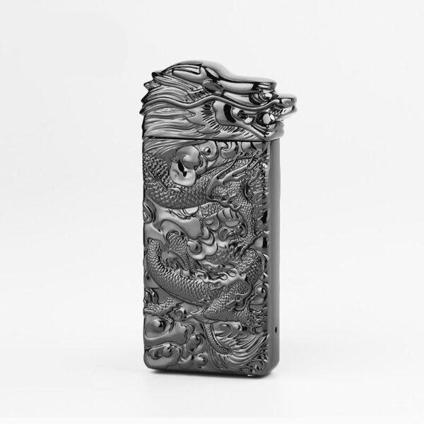 25424 - Плазменная электроимпульсная USB-зажигалка Dragon Fire: цинковый сплав с PVD-напылением