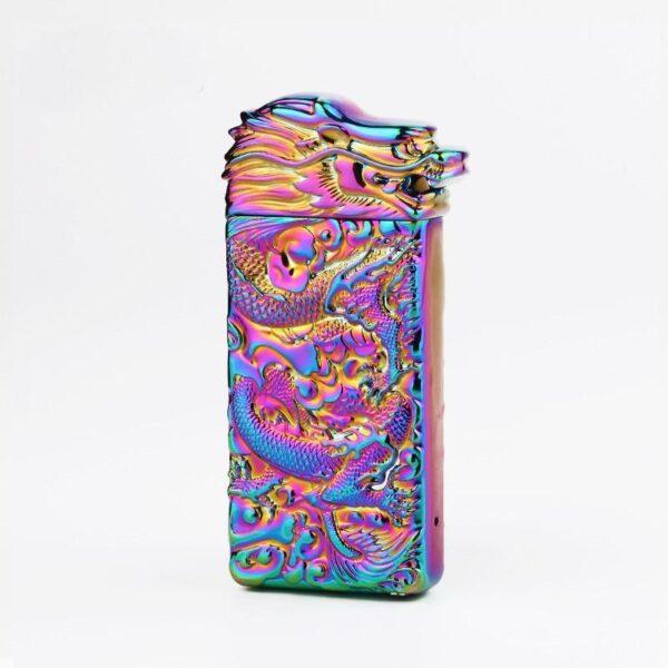 25426 - Плазменная электроимпульсная USB-зажигалка Dragon Fire: цинковый сплав с PVD-напылением