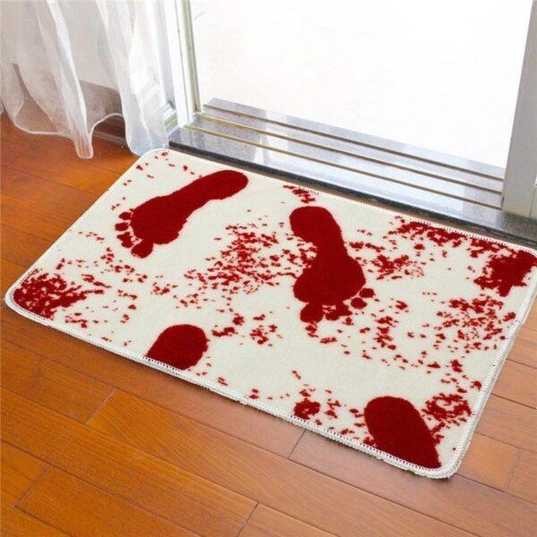 25516 - Коврик для ванной с «кровавыми» следами: для любителей ужасов, розыгрышей, отпугивания нежеланных гостей