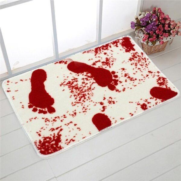 25518 - Коврик для ванной с «кровавыми» следами: для любителей ужасов, розыгрышей, отпугивания нежеланных гостей
