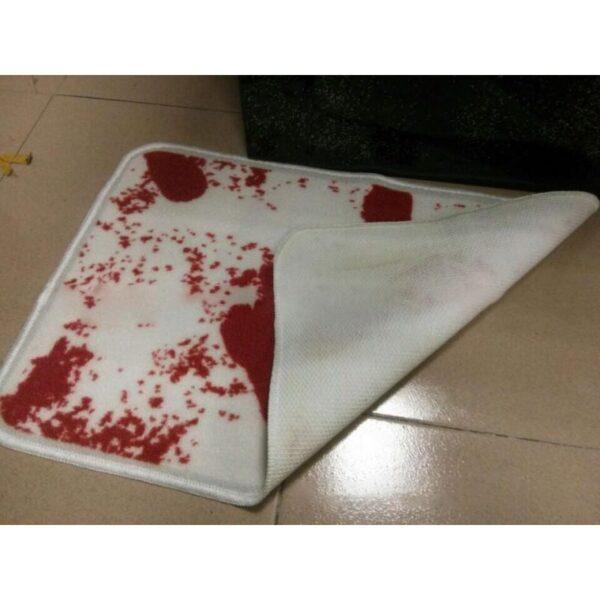 25521 - Коврик для ванной с «кровавыми» следами: для любителей ужасов, розыгрышей, отпугивания нежеланных гостей