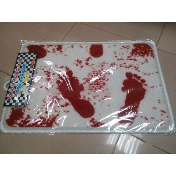 25522 - Коврик для ванной с «кровавыми» следами: для любителей ужасов, розыгрышей, отпугивания нежеланных гостей