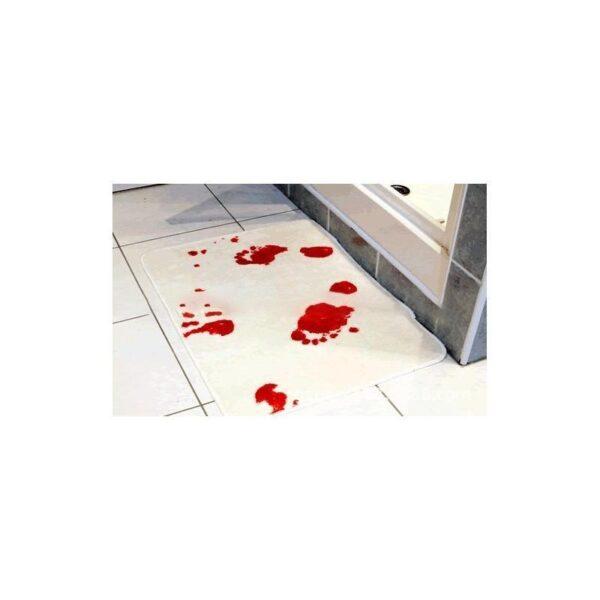 25525 - Коврик для ванной с «кровавыми» следами: для любителей ужасов, розыгрышей, отпугивания нежеланных гостей