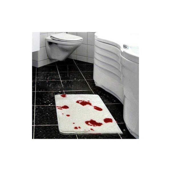 25527 - Коврик для ванной с «кровавыми» следами: для любителей ужасов, розыгрышей, отпугивания нежеланных гостей