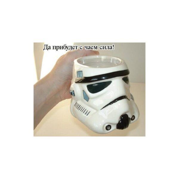 25553 - Керамическая чашка Star Wars (кружка Стар Варс): 680 мл, съемная крышка