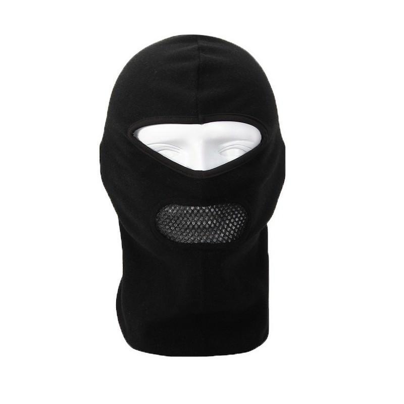 Теплая маска-балаклава Heat с подкладкой из флиса и воздухопроницаемой вставкой - Черный