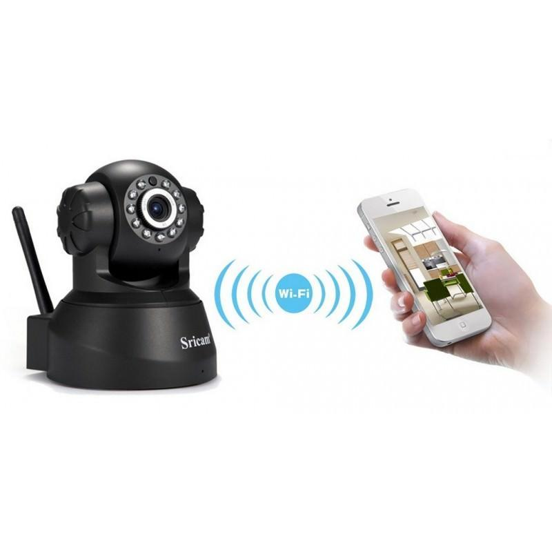 Поворотная IP-камера Sricam SP012 – 720Р, Wi-Fi, до 12 м в темноте, ONVIF, обнаружение движения, PTZ, двустороннее аудио 202889