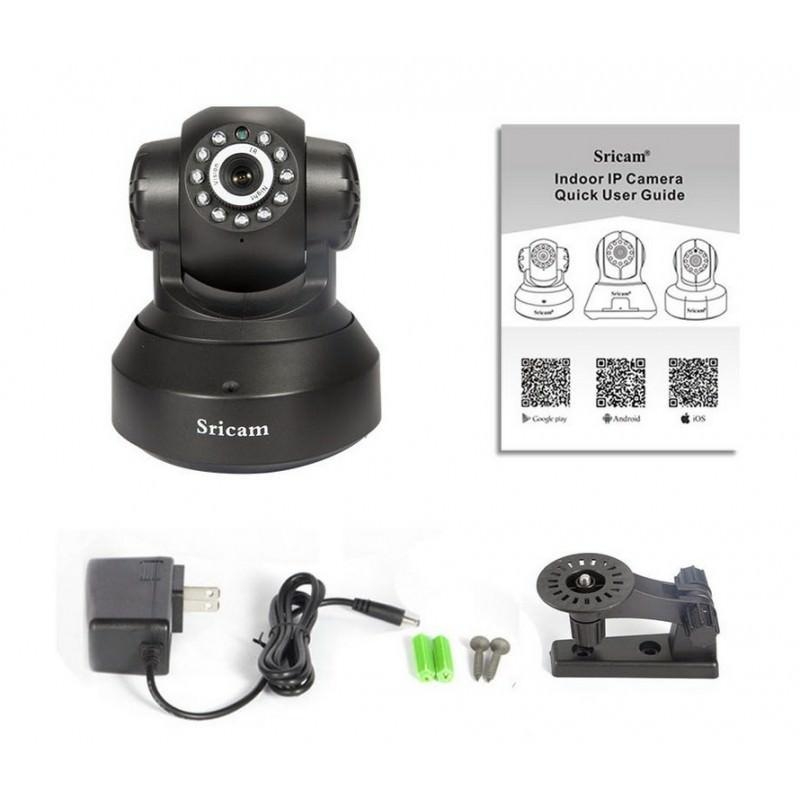Поворотная IP-камера Sricam SP012 – 720Р, Wi-Fi, до 12 м в темноте, ONVIF, обнаружение движения, PTZ, двустороннее аудио 202890