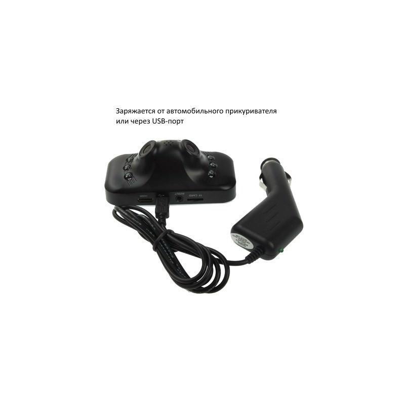 Автомобильный видеорегистратор, 2 камеры, Full HD 1080p, 230°, 2,7″ TFT LCD экран, ночная съемка, датчик движения и G-сенсор 185539