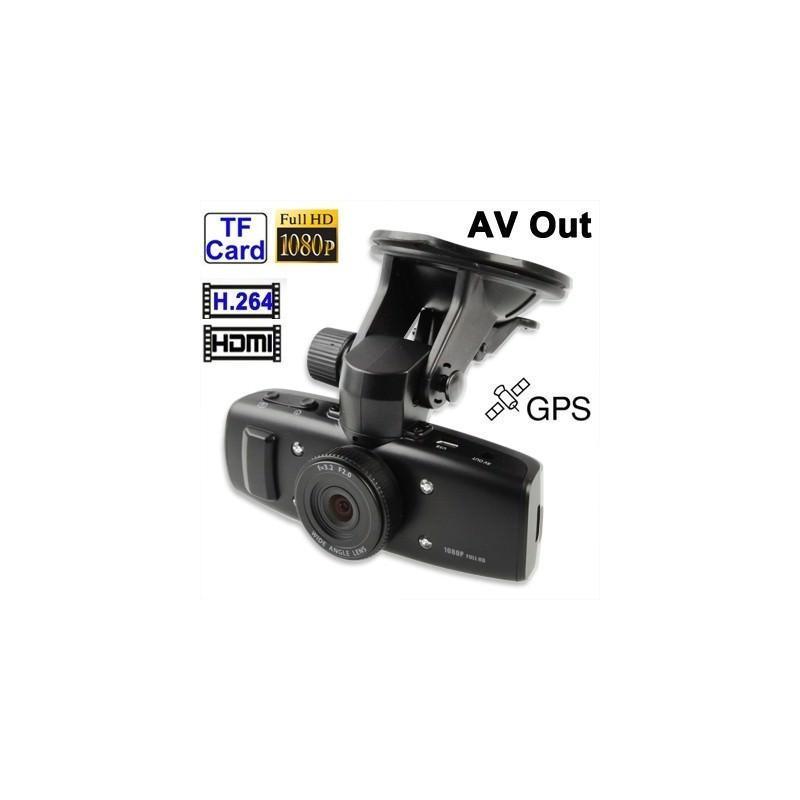 Автомобильный видеорегистратор, обзор 120°, Full HD, 1920×1080, 4xZoom, 1.5″ экран, G-сенсор, встроенный GPS, G-logger, HDMI, AV 185549