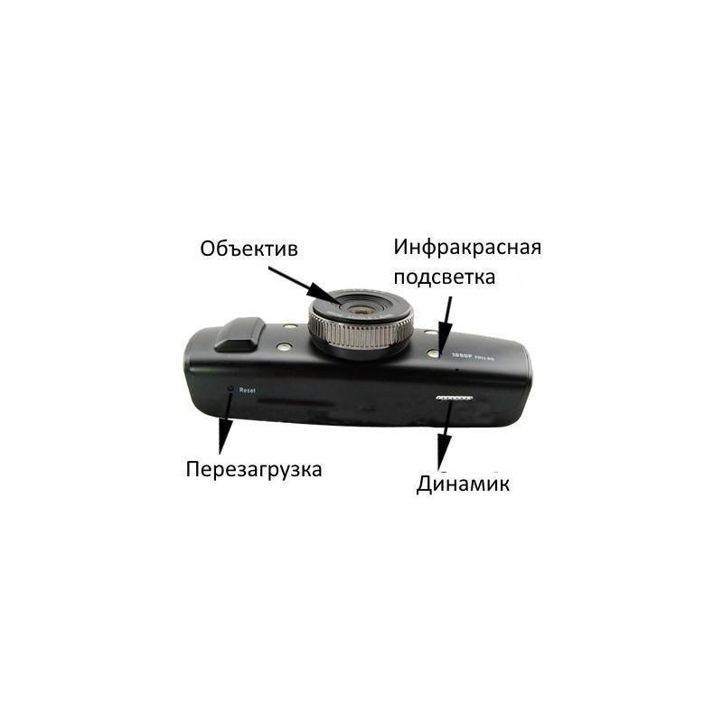Автомобильный видеорегистратор, обзор 120°, Full HD, 1920×1080, 4xZoom, 1.5″ экран, G-сенсор, встроенный GPS, G-logger, HDMI, AV 185553