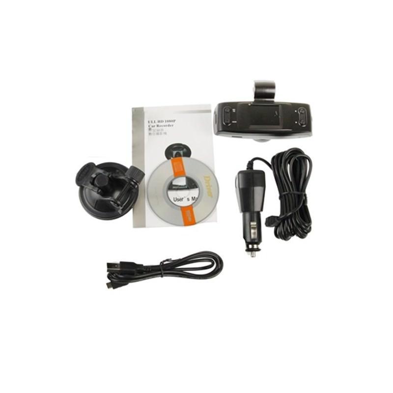 Автомобильный видеорегистратор, обзор 120°, Full HD, 1920×1080, 4xZoom, 1.5″ экран, G-сенсор, встроенный GPS, G-logger, HDMI, AV 185555
