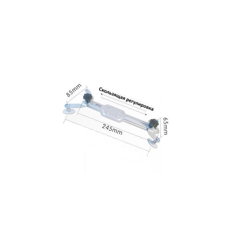"""Универсальный держатель для планшета 5-10"""" из алюминия на гибкой трубке, 60 см, алюминий 185600"""