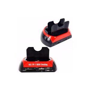 Универсальная док-станция для IDE, SATA жестких дисков 2,5/3,5 дюйма со встроенным eSATA/ USB-хабом + CF TF MS SD XD картридер