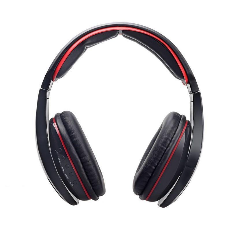 Беспроводные Bluetooth наушники Combaterwing STN-08 с микрофоном и объемным звуком - Красно-черный