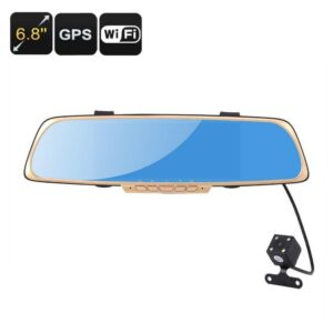 Автомобильный видеорегистратор Dash Cam с парковочной камерой, зеркалом-монитором заднего вида и GPS системой