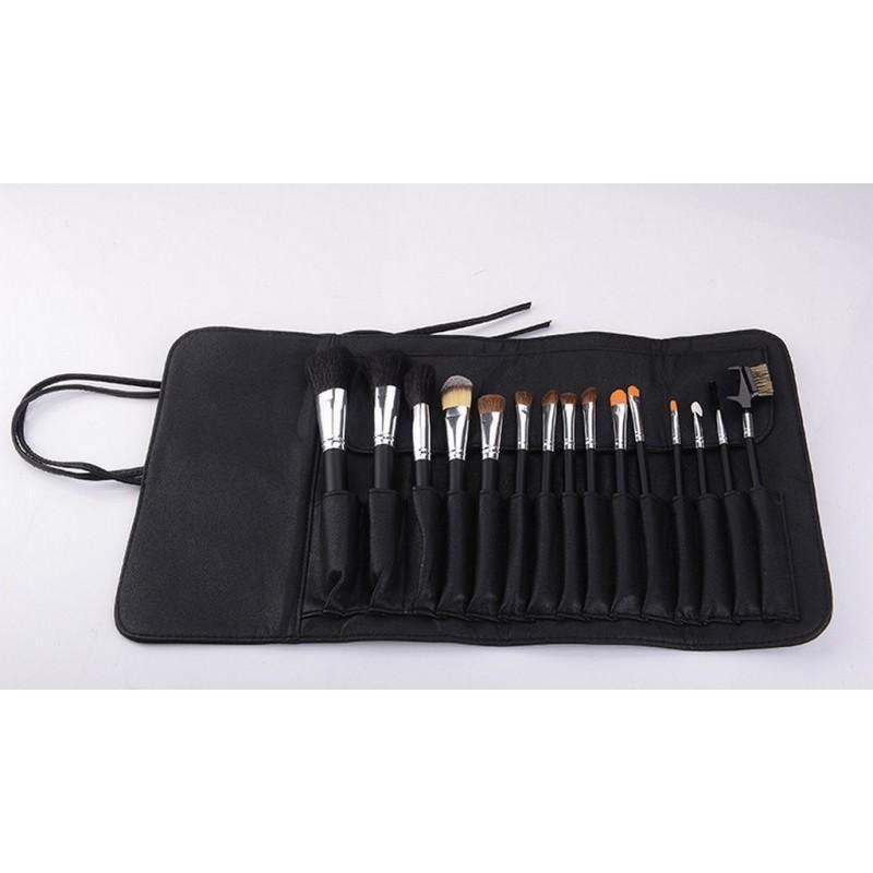 Набор кистей для макияжа Factory Outlet – 15 предметов + чехол 203809