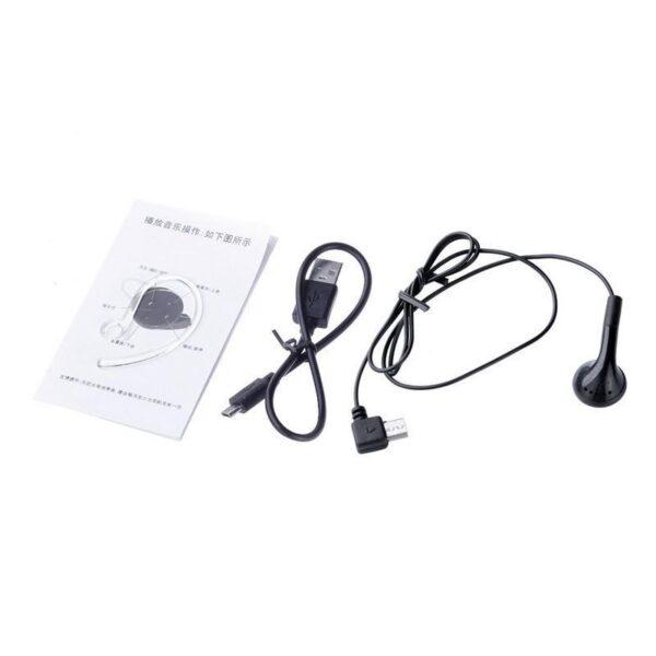 26762 - Универсальная Bluetooth-гарнитура Mini A8 - съемное крепление, до 10 часов разговора, дополнительный наушник в комплекте