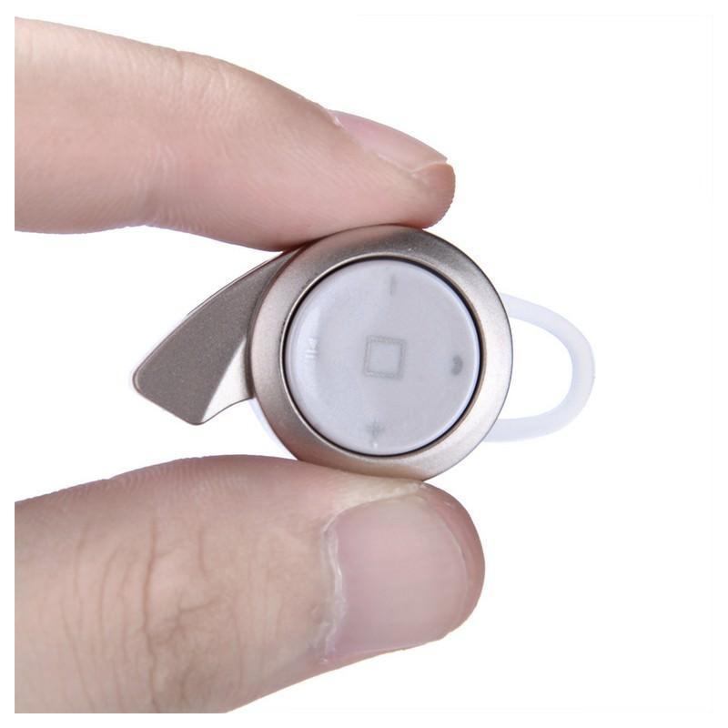 26765 - Универсальная Bluetooth-гарнитура Mini A8 - съемное крепление, до 10 часов разговора, дополнительный наушник в комплекте