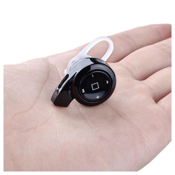 26771 - Универсальная Bluetooth-гарнитура Mini A8 - съемное крепление, до 10 часов разговора, дополнительный наушник в комплекте